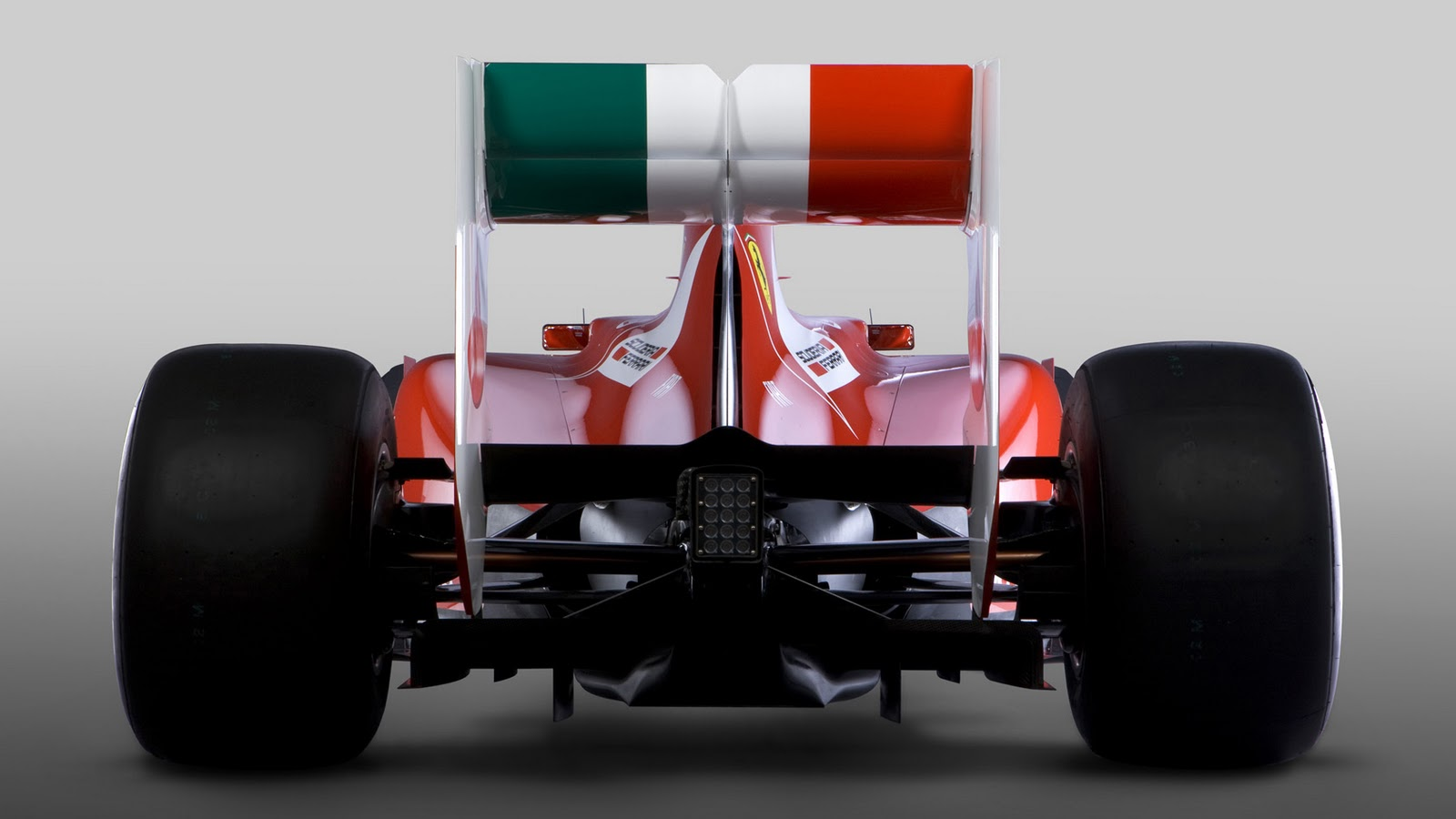 2011 Formula One car the F150th Italia Rearview