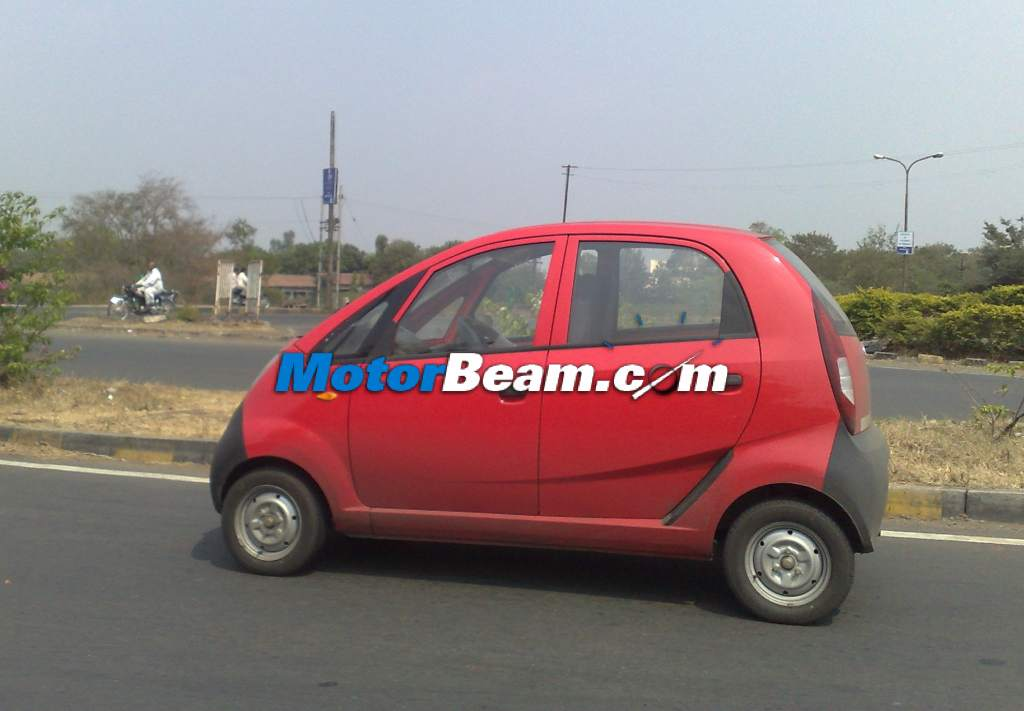 Spied-Tata Nano Diesel Dicor SideView