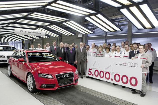 Audi rolls out 5 millionth A4