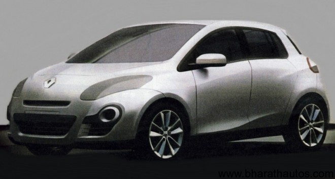2012 Renault Clio Early Designs Leaked - Front