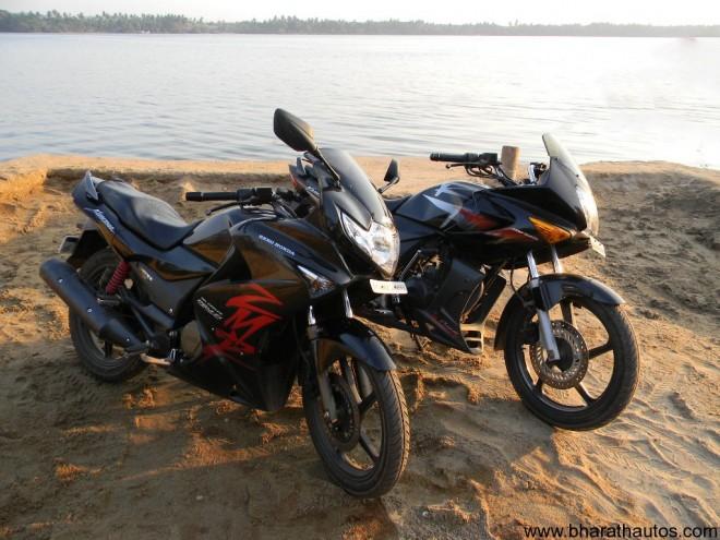 Hero Honda Karizma R v/s ZMR - SideView
