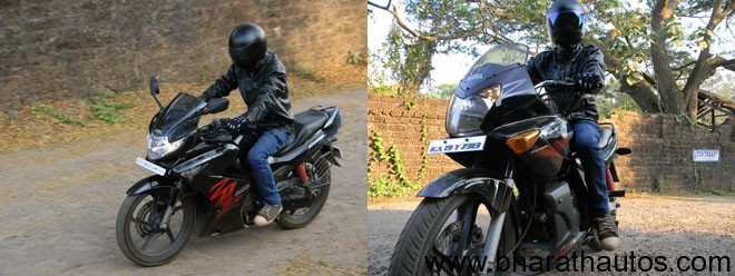 Hero Honda Karizma R v/s ZMR - Tested