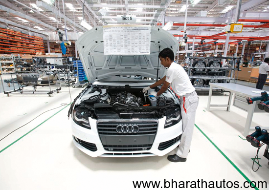 Audi A4 production in India