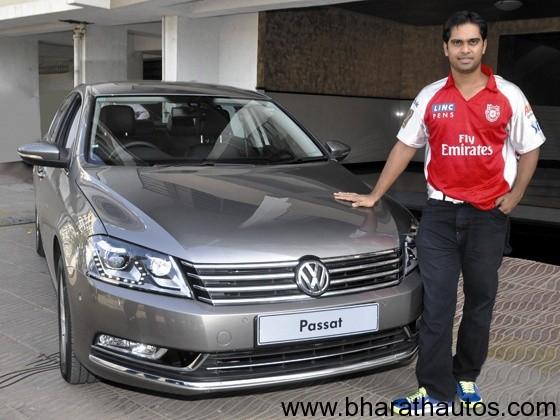 Paul Valthaty with his IPL VW Passat