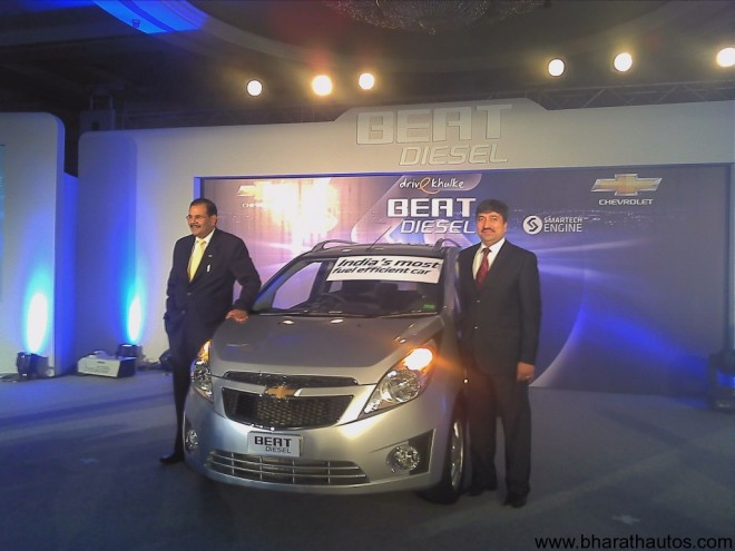 Chevrolet Beat diesel launched in India