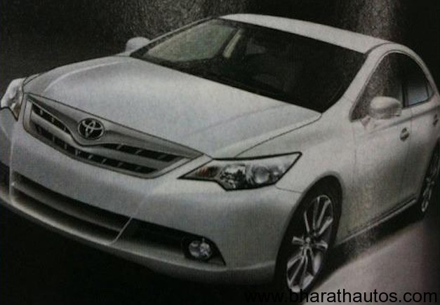2012 Toyota Camry revealed in leaked image