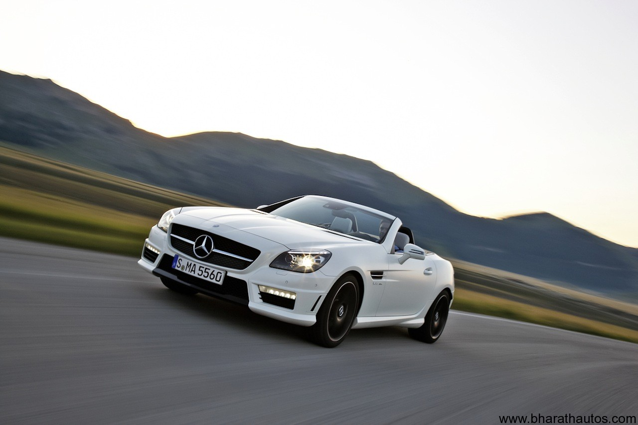 Mercedes benz unveiled 39 slk55 amg 39 fastest slk ever for Mercedes benz slk 55
