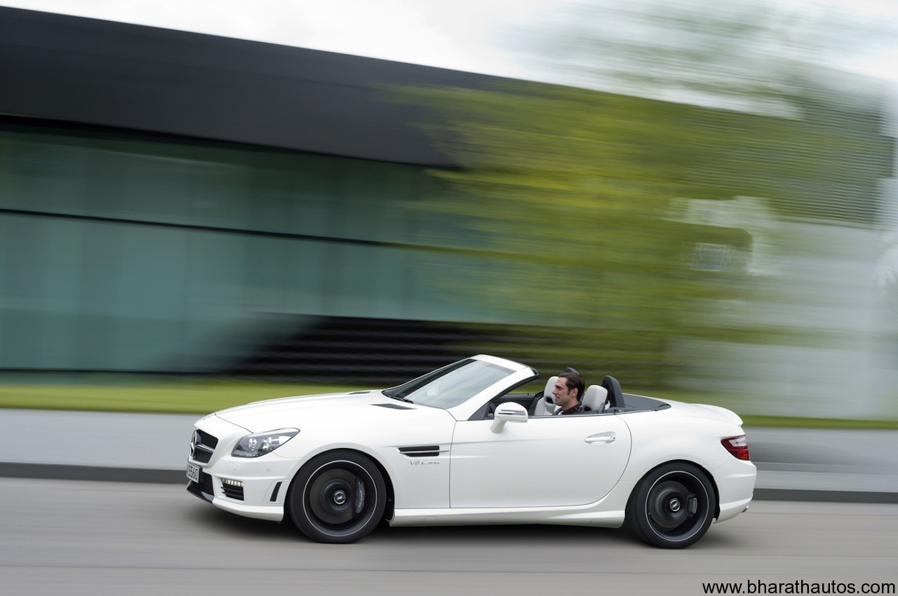 Mercedes benz unveiled 39 slk55 amg 39 fastest slk ever for Mercedes benz slk 350 amg