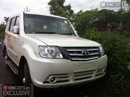Spied Tata Sumo Grande facelift - Front