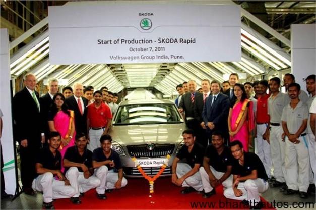 Skoda Rapid production at Chakan plant
