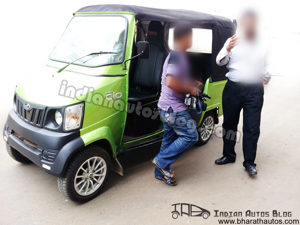 Spied Mahindra Reva Gio Cab Ev Electric Vehicle