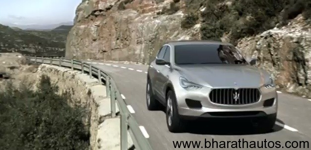 Maserati Kubang SUV Concept in Action