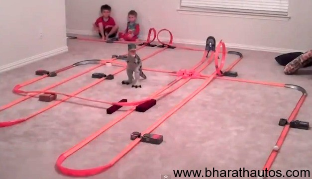 Giant Hot Wheels Track Stretches 2,000 feet long