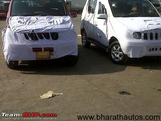 2012 Mahindra Xylo facelift spied - FrontView