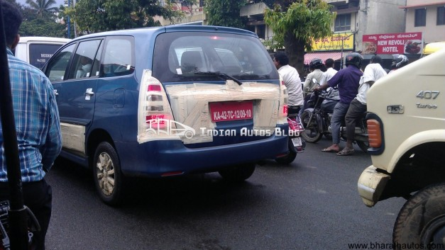 Spied Toyota Innova facelifted in Bangalore