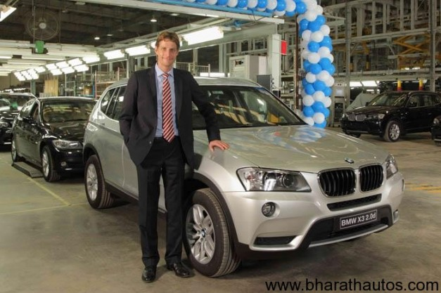 BMW India rolls out 20,000th car from their production line in Chennai