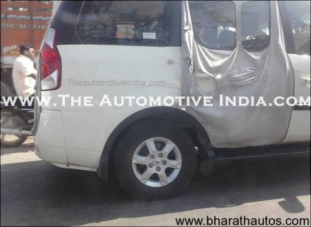 2012 Mahindra Xylo facelift's undisguised mule