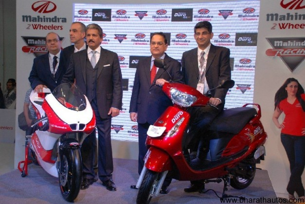 Mahindra 2 Wheelers at 2012 AutoExpo