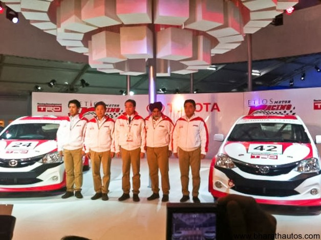 Toyota unveils their Etios and Liva racing concepts