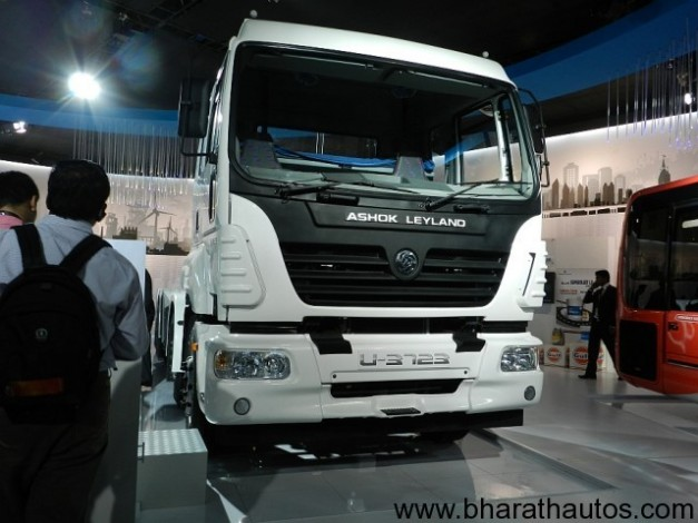 Ashok Leyland presents India's first 37-tonne haulage truck at 2012 Auto Expo