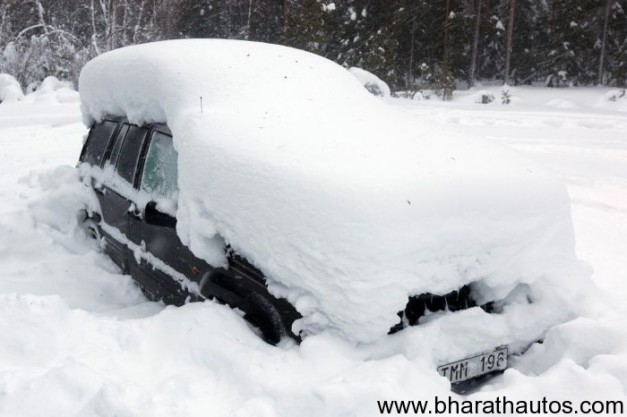 A Swedish man survives 2 months inside Snow-Covered Car