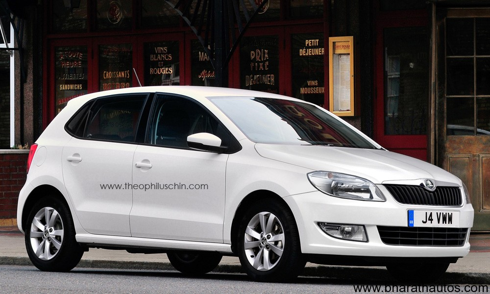 Skoda Rapid Hatchback Rendered Images