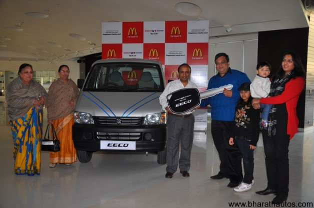 Maruti Suzuki and McDonalds announce 'Eeco-Meal' winners