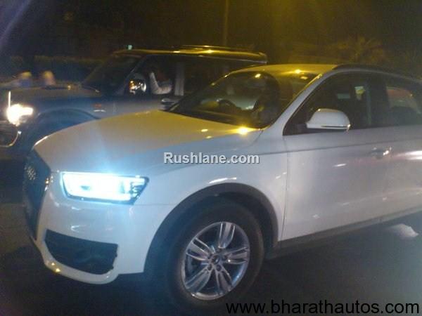 Audi Q3 TDI diesel SUV spied - FrontView