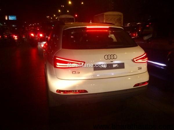 Audi Q3 TDI diesel SUV spied - RearView