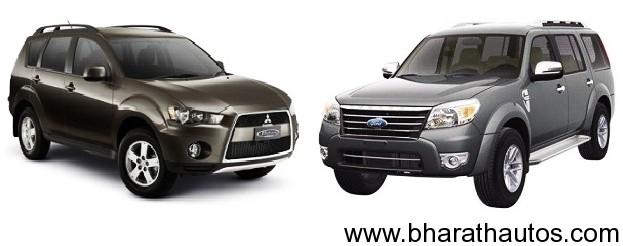 Ford Endeavour VS Mitsubishi Outlander 2012