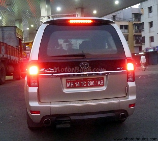 Metallic Golden Tata Safari Strome SUV - 001