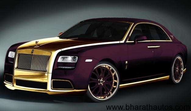 Fenice Milano Paris Purple Rolls-Royce Ghost - FrontView