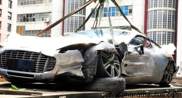 Aston Martin One-77 crashes in Hong Kong