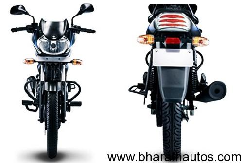 Bajaj Discover 100 4G - Front&RearView