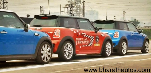 Mini gets in Guinness World Record for Tightest Parallel Parking