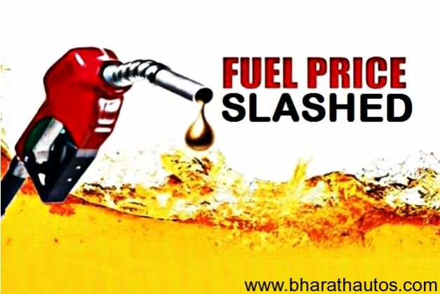 Petrol prices slashed by Rs. 2/- per litre from today