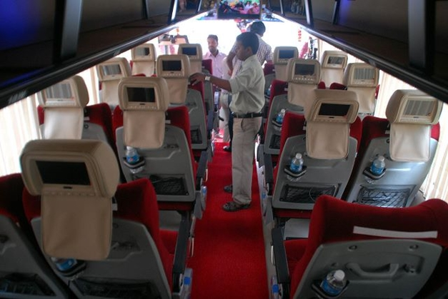 Volvo Ksrtc Introduces Multi Facility Bus With Pantry And