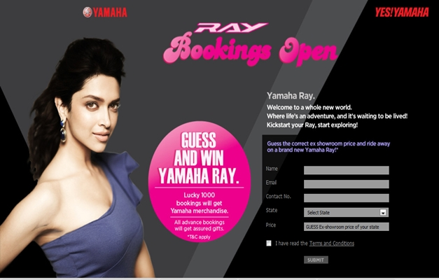 Book Your Yamaha Ray Scooter Now And Win Prizes