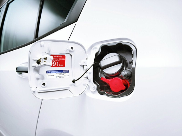 Honda City CNG variant - Inlet for CNG and Petrol