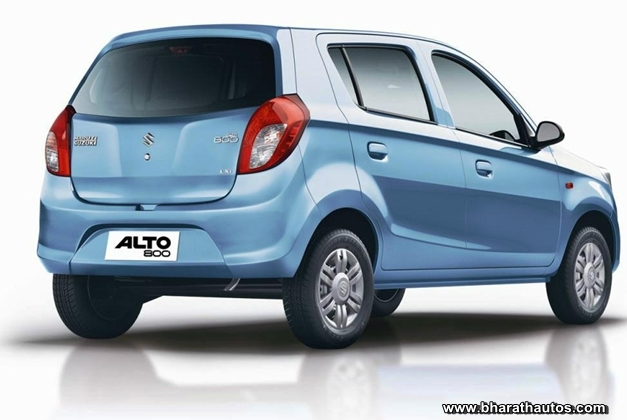 New Maruti Alto 800 - RearView