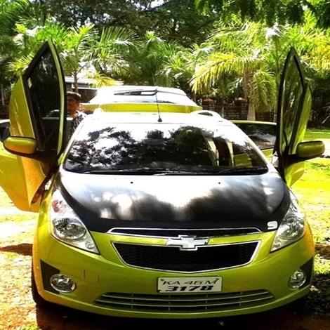 Chevrolet Beat with Lambo doors