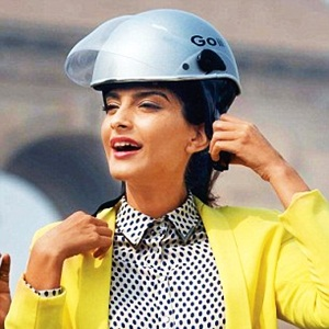 Sonam Kapoor encourages woman riders to wear helmets