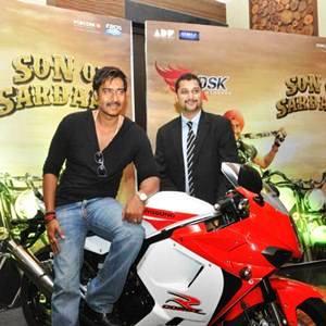 Bollywood superstar Mr. Ajay Devgan along with Mr. Shirish Kulkarni- Director DSK Motowheels