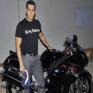 Salman Khan gifted with Black Suzuki Hayabusa