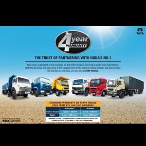 Tata Motors doubles warranty period on Heavy Trucks to 4 years