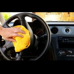 How to remove oil or grease from car's cabin