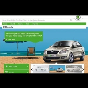 Skoda Rapid sedan India EMI Holiday