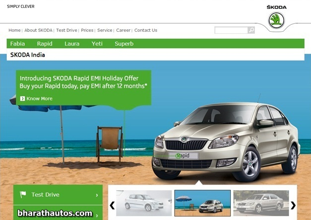 skoda india introduces rapid emi holiday offer to buy now pay later. Black Bedroom Furniture Sets. Home Design Ideas
