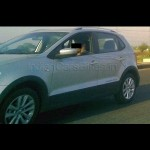 Spy Shot - First Ever test-mule of Volkswagen CrossPolo caught testing in India