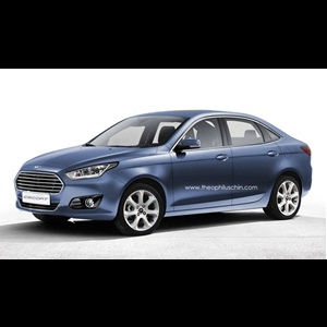 Photo Rendering - 2013 Ford Escort sedan production version could look like this